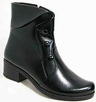 Женские ботинки зима кожаные, женская обувь больших размеров от производителя модель МИ1453