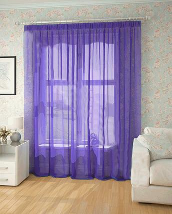 Готовая тюль-вуаль Чернило (Фиолетовый) , фото 2