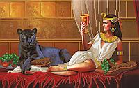 Вышивка бисером клеопатра с пантерой
