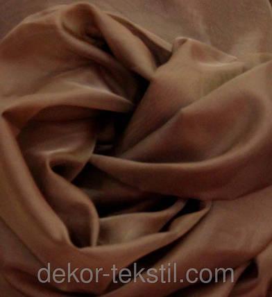 Готовая тюль-вуаль Темно-коричневая, фото 2