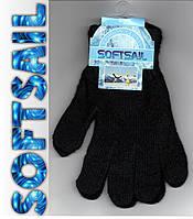 Перчатки мужские-женские велюр SOFTSAIL чёрные   ПМЗ-9