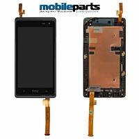 Оригинальный  дисплей (модуль) + сенсор (тачскрин)  для HTC Desire 600 | 606w (Черный) (С рамкой)