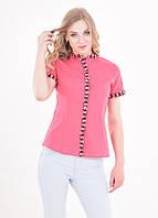 Розовая рубашка розового цвета в классическом стиле