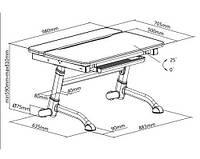 Детский стол-трансформер FunDesk Volare Grey+ лампа L5