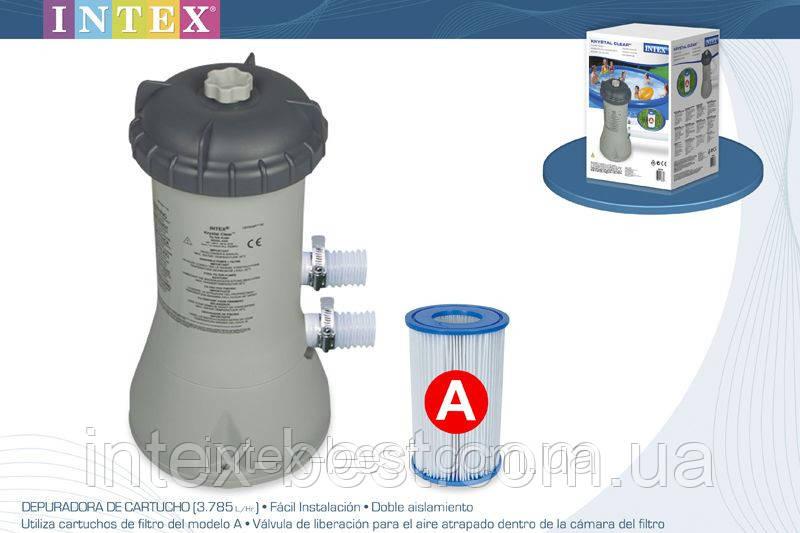 Насос-фильтр для бассейна Intex 28638 (56638). производительностью 3785 л/ч.