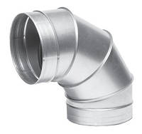 Отвод 90°оцинкованный вентиляционный круглый 90-630, Вентс, Украина