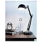 Настольная лампа IKEA FORSA рабочая черная 001.467.76, фото 2