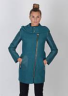 Пальто шерсть со стеганными вставками