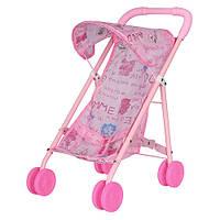 Коляска 6632 H для куклы, прогулочная, металлическая, 37-25-44см, колеса 6,5см, в кульке, 27,5-64-7см