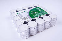Свічки чайні-таблетка BISPOL 39 × 13.5 мм, 4 години, 100 шт/упаковка, фото 1