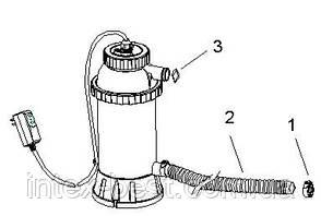 Проточный нагреватель воды для бассейна Intex 28684 (56684), фото 2