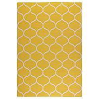 STOCKHOLM Ковер, безворсовый, сетчатый орнамент ручная работа, сетчатый орнамент желтый желтый