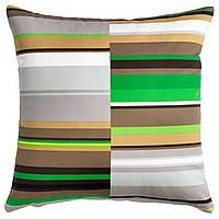 STOCKHOLM Чехол на подушку, в полоску, зеленый