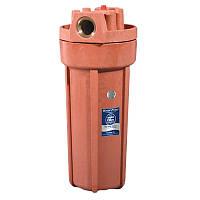 """Корпус фильтра 10"""" FHHOT-1 для горячей воды,оранжевый, резьба 3/4"""""""