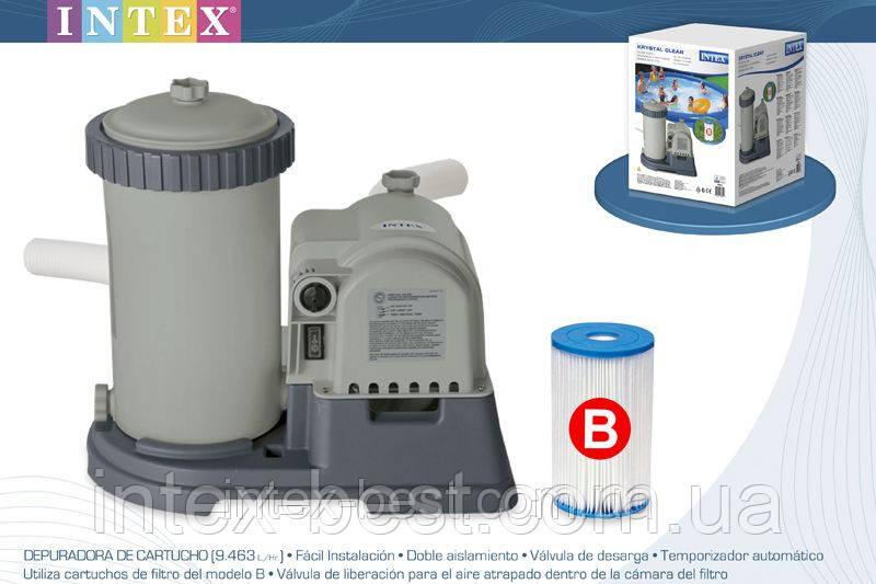 Насос-фильтр водный для бассейна Intex 28634 Производительность — 9460 л/ч.