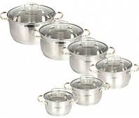 Набор посуды Maestro (12 предметов) золотые ручки