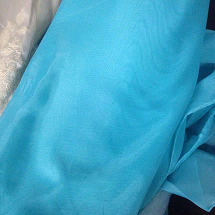 Готовая тюль-вуаль бирюза, фото 2