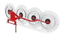 Грабли-ворошилки Wirax на круглой трубе Польша, 4 секции, спица оцинкованная