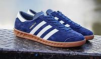 Кроссовки мужские Adidas Hamburg Suede (blue) - 13Z