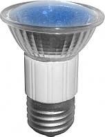 LED Лампа BUKO JDR E27 220V 18Leds синяя