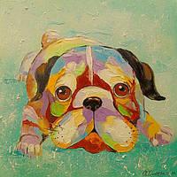 «Собачка» картина маслом