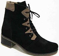 Ботинки женские большого размера замша зима, женская обувь больших размеров от производителя модель М30И16