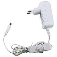LED-адаптер, 18W, 12V, IP20, кабель 1.5m, выкл, белый корпус
