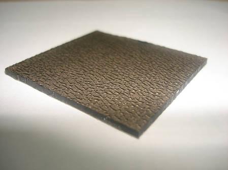 Бронзовый полупрозрачный  монолитный поликарбонат ШАГРЕНЬ 2мм 2,05*3,05м, фото 2