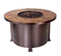 Био-очаг-стол круглый Плитка