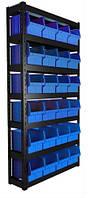 Складской стеллаж на 24 ящика под метизы
