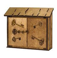 """Настенная деревянная ключница """"Домик с ключами"""". Ручная работа"""
