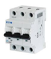 Трехполюсный автоматический выключатель 6А EATON  PL4-C6/3