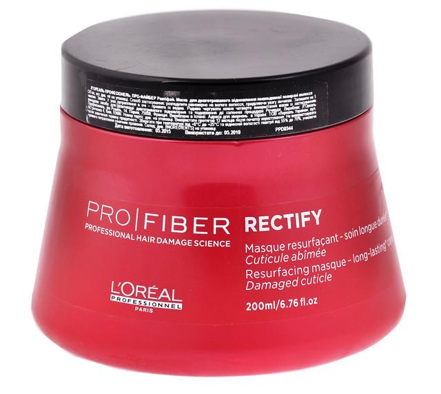 """Маска восстанавливающая для слабо поврежденных волос """"L`Oreal"""" Pro-Fiber Rectify (200ml)"""