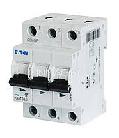 Трехполюсный автоматический выключатель 63А EATON PL4-C63/3