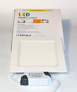 LED PANEL LIGHT 12W  Точечный светодиодный светильник квадрат