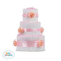"""Торт из памперсов  """"Pink Rose"""""""