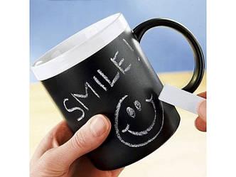 Керамическая чашка memoboard + 2 мелка