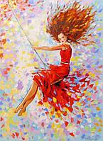 «Девушка на качели» картина маслом