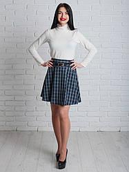 Молодежная юбка в клеточку