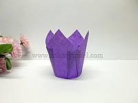 """Формочка бумажная для выпечки """"Тюльпан пурпурный"""" d 5 см h 8 см"""