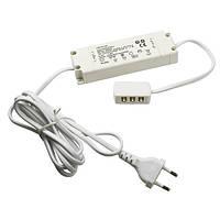 Блок питания для LED, 20W, 12V, IP20, распр. блок для 6 светильн, кабель 1,8m