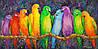 «Попугаи» картина маслом