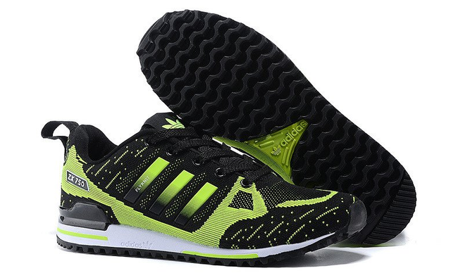 Кроссовки мужские Adidas Оriginals ZX750 Flyknit (black/green) - 23Z оригинал