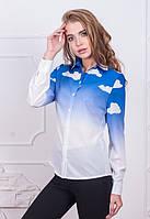 Женская легкая рубашка с длинным рукавом Clouds