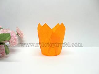 """Формочка бумажная для выпечки """"Тюльпан оранжевый"""" d 5 см h 8 см"""