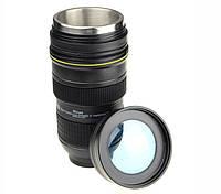 Термокружка фотообъектив Nikan с линзой (термочашка фотоапарат)