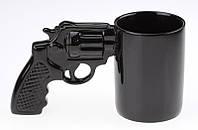 Чашка Револьвер черная (кружка пистолет)