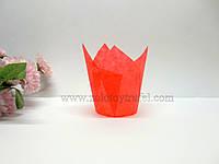 """Формочка бумажная для выпечки """"Тюльпан красный"""" d 5 см h 8 см"""