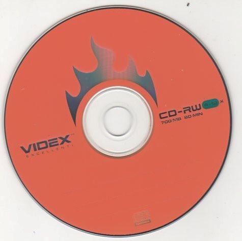 """CD-RW диск """"Videx"""" в конверте"""