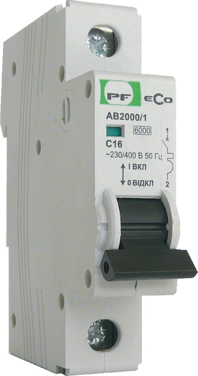 Автоматический выключатель ECO AB2000 1р 63А 6кА